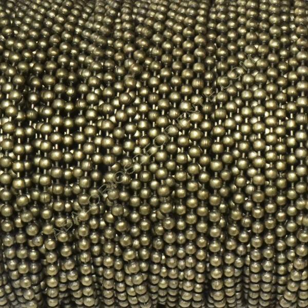 Cadena de bolas de 2,4 mm bronce