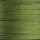 Cordón de antelina verde militar 3 x 1.5 mm