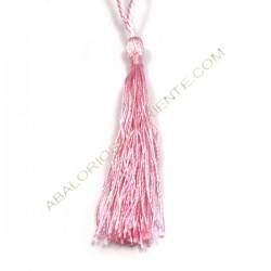 Pompón de nylón de 80 mm rosa