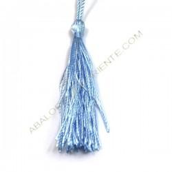 Pompón de nylón de 80 mm azul cielo