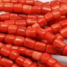Coral naranja natural 9-12 x 10-11 mm