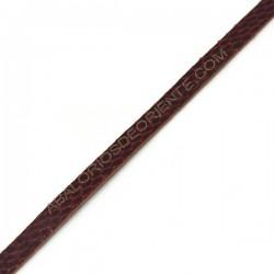 Cuero plano imitación serpiente rojo en metros