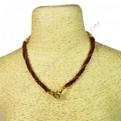 Cordón indio para collar rojo