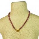 Cordón indio para collar morado y dorado