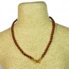 Cordón indio para collar rojo marrón y dorado