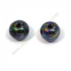Bola de cerámica gris oscura metalizada 18 mm