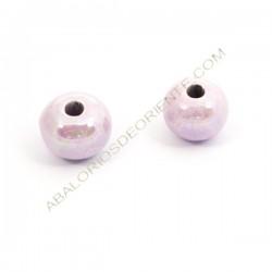Bola de cerámica lila metalizada 18 mm