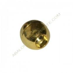 Cierre magnético redondo dorado 13 mm. Agujero 3,5 mm
