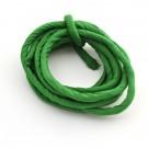 Cordón de seda natural india relleno 8 mm verde botella de 2 metros