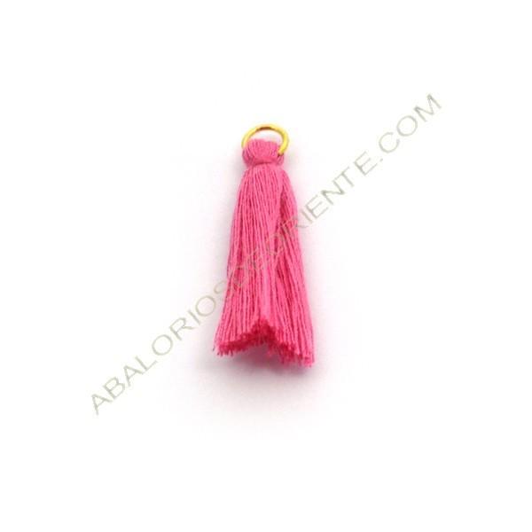 Pompón de algodón de 25 mm rosa chicle