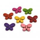 Mariposa en colores variados de turquesa sintética de 24 x 34 mm