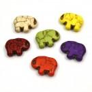 Elefante colores 16x20mm turquesa sintética