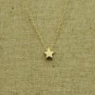Cadena de plata 925 chapado en oro con estrella
