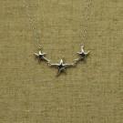 Cadena de plata 925 con tres estrellas de mar