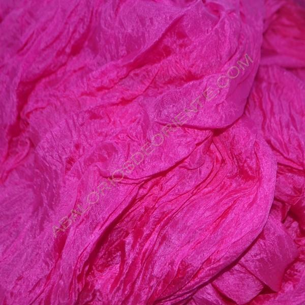 Pieza de seda natural india fucsia 50 x 90 cm