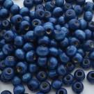 Bolsa de 100 cuentas de madera redonda azulón de 7 mm