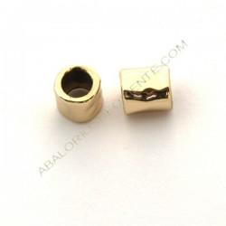 Entrepieza de aleación de Zinc tubo chapado en oro