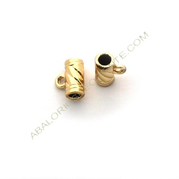 Entrepieza de aleación de Zinc colgante tubo chapado en oro