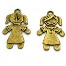 Colgante de aleación de Zinc niña bronce