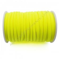 Cordón de Lycra elástico 5 mm amarillo flúor
