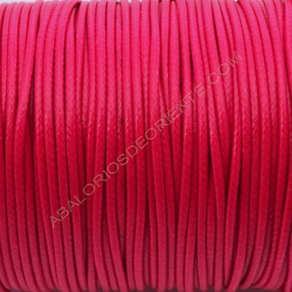 Algodón encerado 1,4 mm rosa