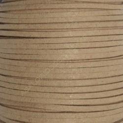 Cordón de antelina cuero crudo 3 x 1.5 mm