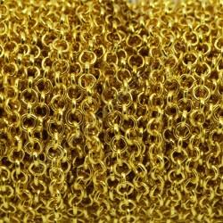 Cadena de hierro color dorado eslabón circular de 4 mm