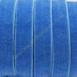 Cinta de terciopelo elástico azul