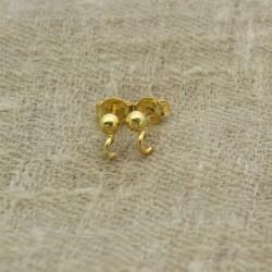 Cierre pendiente de 3 mm de plata 925 chapado en oro