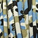 Cordón étnico de algodón de 6 mm azul