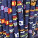 Cordón étnico de algodón de 6 mm azul multicolor
