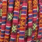Cordón étnico de algodón de 6 mm rojo multicolor