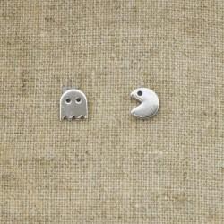 """Pendientes de plata 925 """"PacMan"""""""