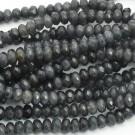 Ágata gris marengo rondel facetada de 4 x 6 mm