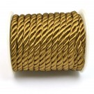 Cordón trenzado de algodón bronce 4 mm