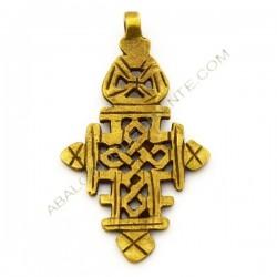 Cruz copta de bronce