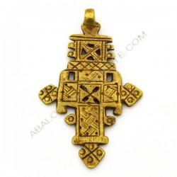 Cruz copta de bronce 75 x 46 x 9 mm