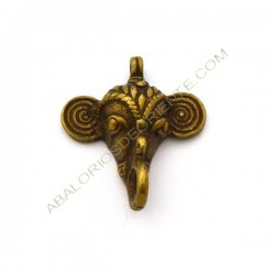 Colgante de bronce elefante. 48 x 41 x 14 mm