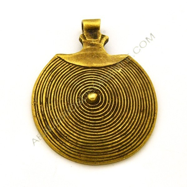 Colgante de bronce redondo espiral 66 x 53 x 8 mm