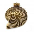 Colgante de bronce espiral caracola. 74 x 54 x 7 mm