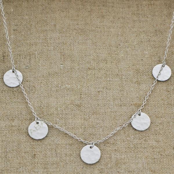 9c1ed3800e71 Cadena de plata 925 con monedas de 16 mm - Collares de plata ...