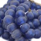 Cuenta de vidrio reciclado tonel azul marino 14-16 x 19-20 x 19-20 mm