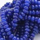 Ágata azul marino rondel facetada de 4 x 6 mm