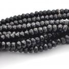 Ágata rondel facetada negra de 5 x 8 mm