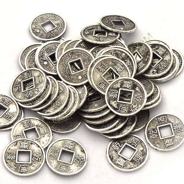 Monedas chinas plateadas de 14 mm