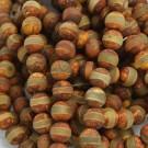 Ágata tibetana Dzi redonda marrón