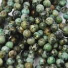 Turquesa natural africana redonda de 8 mm