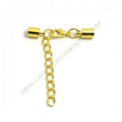 Cierre completo dorado con terminales cerrados de 10 x 5,5 mm