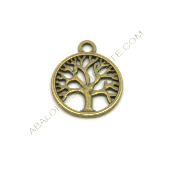 Colgante de aleación de Zinc árbol de la vida bronce