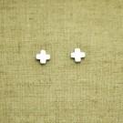Pendientes de plata 925 cruz griega